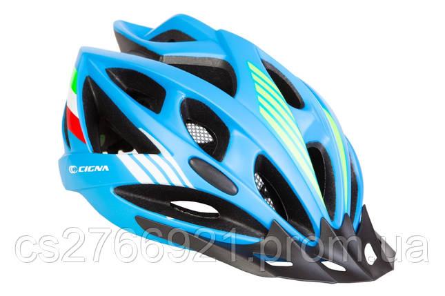 Шлем велосипедный с козырьком СIGNA WT-036 М (54-57см) (синий) , фото 2