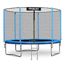 Садовий батут Neo-Sport 8ft/252 см для всієї родини з посиленою рамою зовнішньої сіткою і сходами