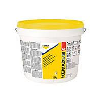 Силикатная фасадная краска белая KEMACOLOR S (25кг), фото 1