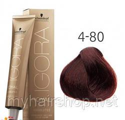 Стойкая краска для седых волос SCHWARZKOPF Igora Royal Absolutes 60 мл  4-80 Средний коричневый красный