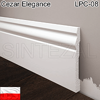 Широкий плинтус для пола Cezar Elegance, H=94 мм.
