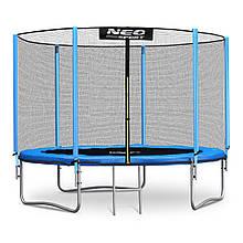 Садовий батут Neo-Sport 10ft/312 см для всієї родини з посиленою рамою зовнішньої сіткою і сходами