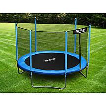Садовый батут Neo-Sport 10ft/312 см для всей семьи с усиленной рамой внешней сеткой и лестницей, фото 3