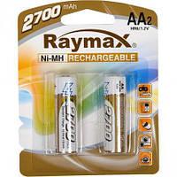 Аккумуляторные батарейки AA R6 Raymax 2700 mAh, 2 шт, 1.2V (цена за 1 аккумулятор)