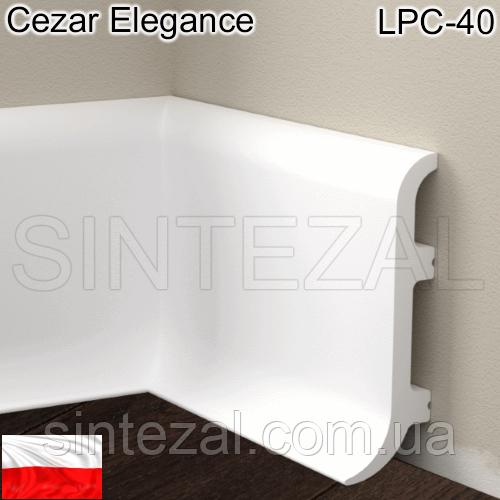 Плинтус из дюрополимера Cezar Elegance LPC-40, H=100 мм.