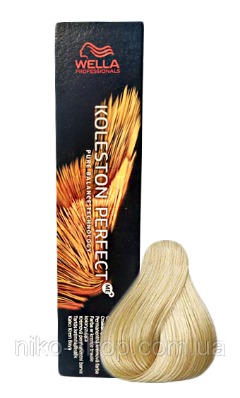 Краска для волос Wella Koleston Perfect - 10/38 Яркий блонд золотой жемчуг, фото 1