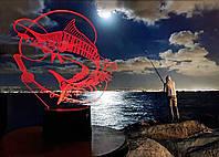 """3D светильник """"Рыбалка"""" 3DTOYSLAMP"""