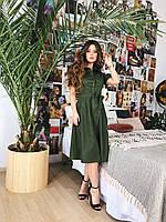 Платье-рубашка хаки, арт.1010, фото 1