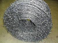 Одноосновная колючая проволока Д 2,8 мм (каждой оси)
