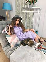 Платье-рубашка сиреневое, арт.1010, фото 1