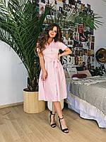 Платье-рубашка пудра, арт.1010, фото 1