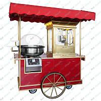 Прилавок + аппарат для сладкой ваты + машина для попкорна GGM Gastro PZWY10