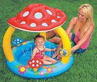Обзор детского надувного бассейна грибок от Intex 57407