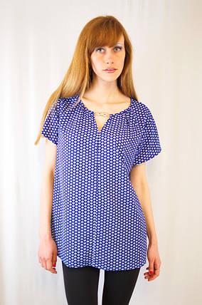 Стильная красивая изящная блуза-рубашка свободного кроя с золотым украшением, фото 2