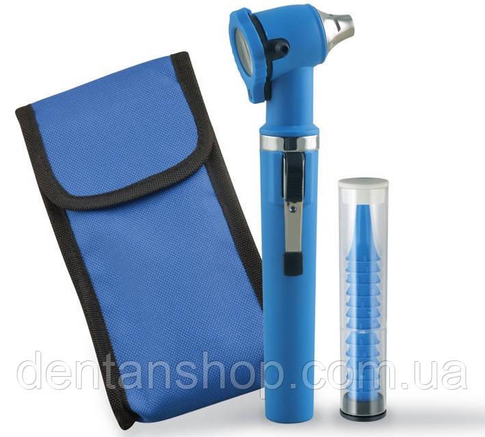 Отоскоп фиброоптический GIMALUX F.O., 2,5 В, пластиковый корпус: синий, Италия