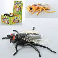Насекомое тянучка муха/пчела13см, ЦЕНА ЗА УП., В УП.6ШТ, 36шт (2вида) в дисплее 28*21*12,5см(108шт)