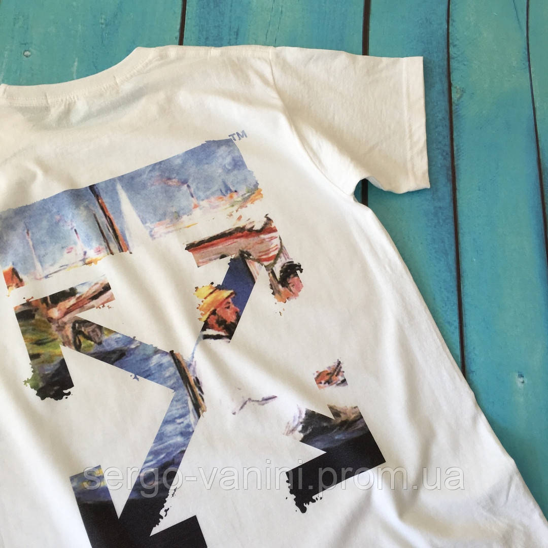 Мощная футболка Off-White. Бирка ориг