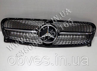Решітка радіатора Mercedes GLA X156 стиль Diamond (Black)