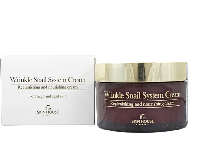 The Skin House Восстанавливающий крем против морщин с фильтратом улитки Wrinkle Snail System Cream, 100ml