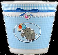 """Горшок для цветов """"Крот Деко"""" слоник"""