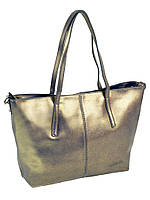 Кожаная сумка 10-03 8129 perlite-grey-gold, фото 1