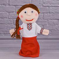 Игрушка рукавичка для кукольного театра Украинка, кукла перчатка на руку