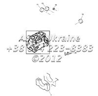Блок цилиндров c вкладышами, двигатель 1104C-44Т, RG38101 Г1-2-1