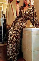 Женский халат - кимоно в леопардовой расцветке