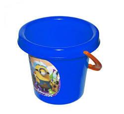 Ведёрко с наклейкой, 16,5 х 17,5 см (синее)  sco