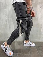 Мужские джинсы серые 4582