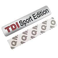 3D эмблема -  TDI Sport Edition - матовая