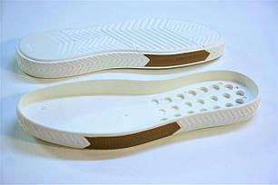Подошва для обуви СМ 148 бело-бежевая р.40-45, фото 2