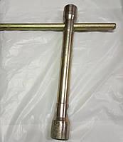 Ключ балонний 27х32мм з комірчиком латунний, фото 1