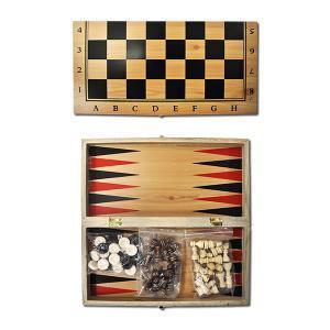 Шахи дерев'яні 3 в 1, 30см