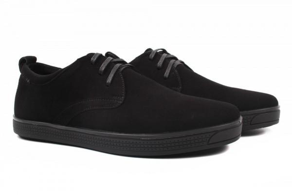 Туфли комфорт Davis натуральная замша, цвет черный