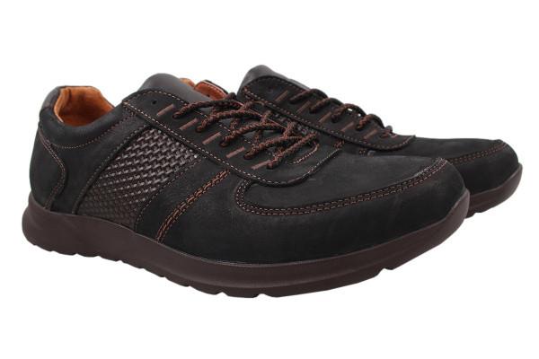 Туфли спорт Konors нубук, цвет черный