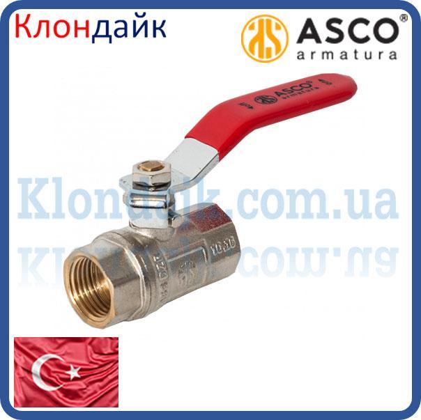 Кран шаровой 1/2' ВВ красная ручка ASСO PN40