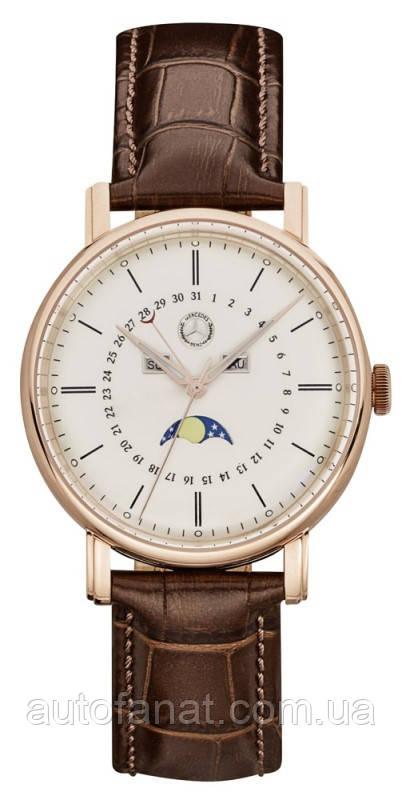 Оригінальні чоловічі наручні годинники Mercedes-Benz men's Watch, Classic Gold, Pink Gold / Brown (B66041623)