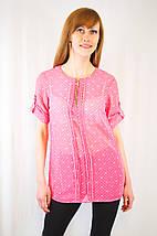 Модная летняя легкая повседневная красивая шифоновая блуза рубашка с молнией и пуговицами, фото 2