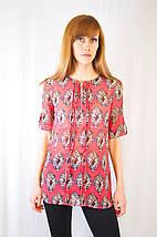 Модная летняя легкая повседневная красивая шифоновая блуза рубашка с молнией и пуговицами, фото 3
