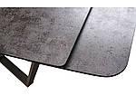 Стол обеденный Харбор Айрон серый (Harbor Iron Grey) глазурованное стекло 160-240, Concepto, фото 9