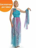 Женское элегантное нарядное шифоновое платье 2015