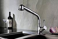 Смеситель Blue Water  Retra (хром) для кухни с выдвижным душем, фото 1