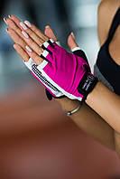 Женские спортивные перчатки для тренировок Designed For Fitness White N Pink