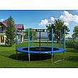 Садовый батут Neo-Sport 14ft/435 см для всей семьи с усиленной рамой внешней сеткой и лестницей, фото 2