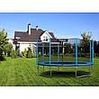 Садовый батут Neo-Sport 14ft/435 см для всей семьи с усиленной рамой внешней сеткой и лестницей, фото 3