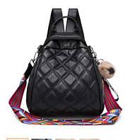 Женский рюкзак сумка Каталея с помпоном