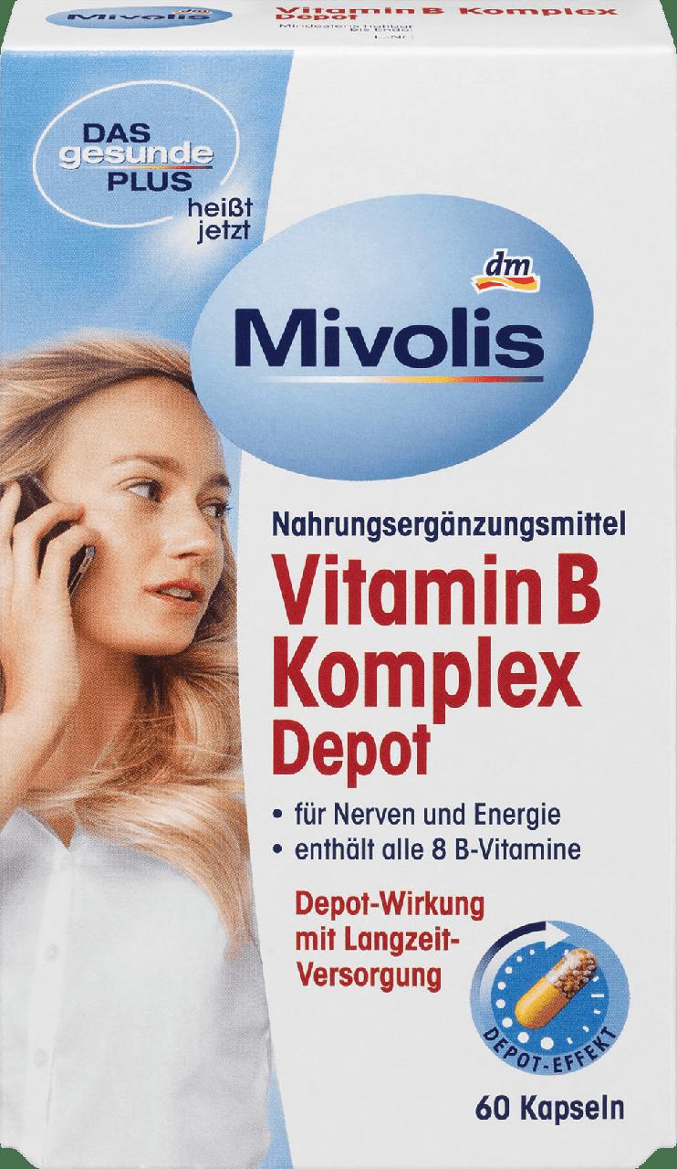 Биологически активная добавка Mivolis Komplex Vitamin B für Nerven und Energie, 60 шт.
