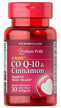 Вітаміни, Коензими, Puritan's Pride Q-SORB Co Q-10 Cinnamon 30 капсул