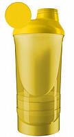 Шейкер спортивний ShakerStore Wave + з 2-ма контейнерами Жовтий